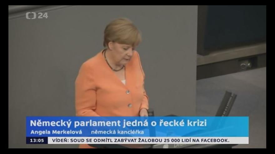 Video Německý parlament jedná o řecké krizi