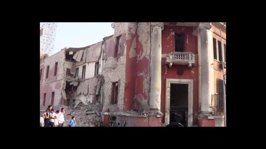 Video BEZ KOMENTÁŘE: Výbuch vážně poškodil italský konzulát v Káhiře