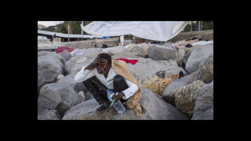 Video Odraz uprchlické krize ve městě Menton