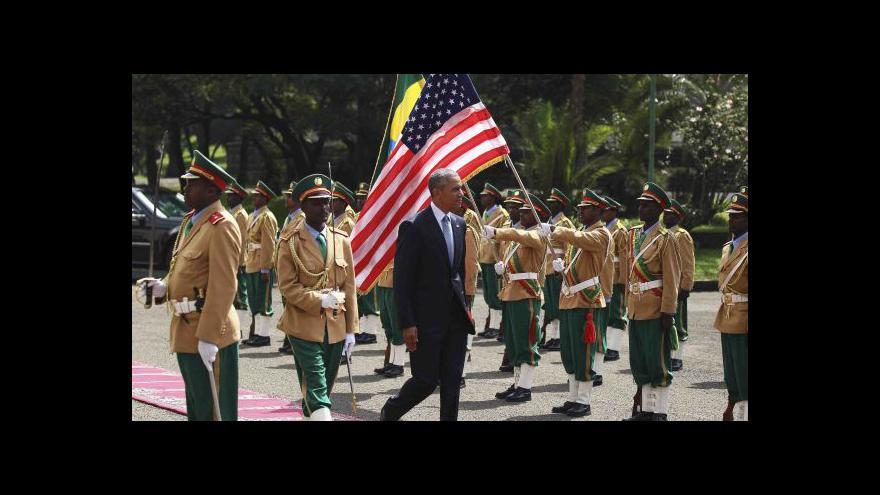 Video Obama zakončil africkou misi projevem na půdě AU