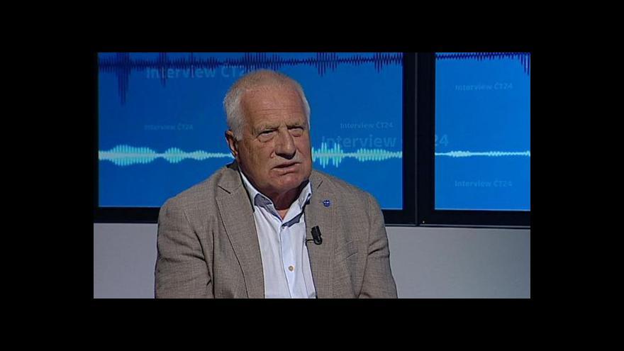Video Václav Klaus: EU zbavila Řecko svéprávnosti