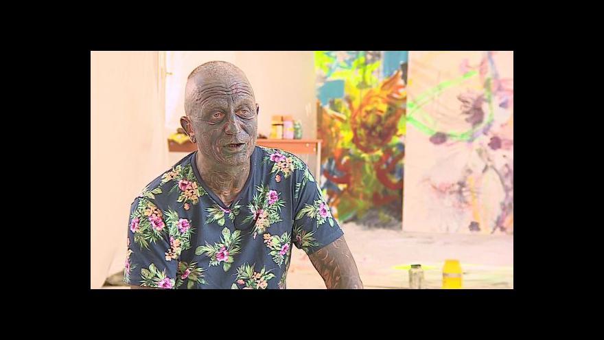 Video Výtvarník Vladimír Franz o tvorbě v Mikulově