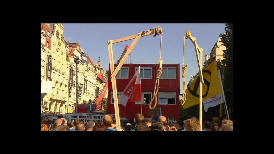 Video Šibenice vzdemuly protest - Stop nenávisti