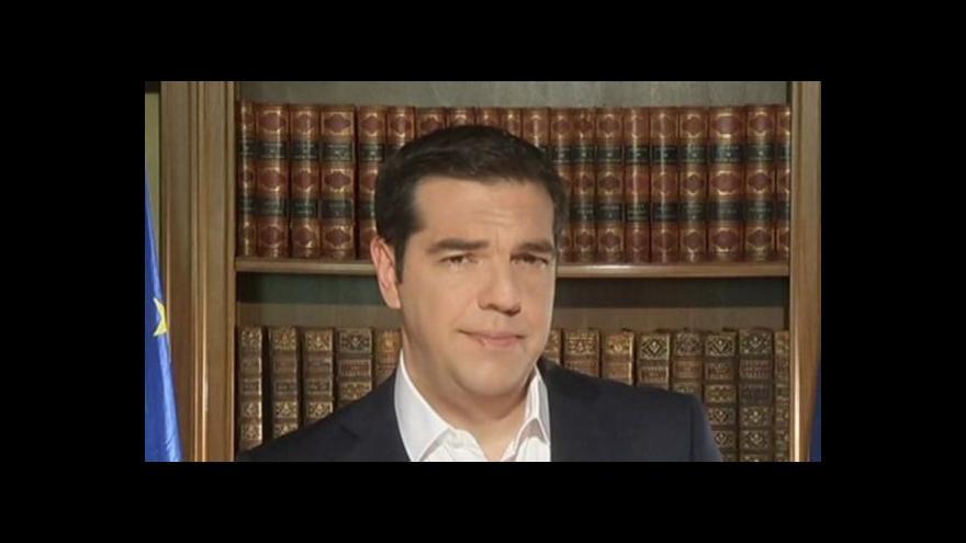 Video Tsiprasův vzkaz je jasný: Hlasujte NE věřitelským návrhům