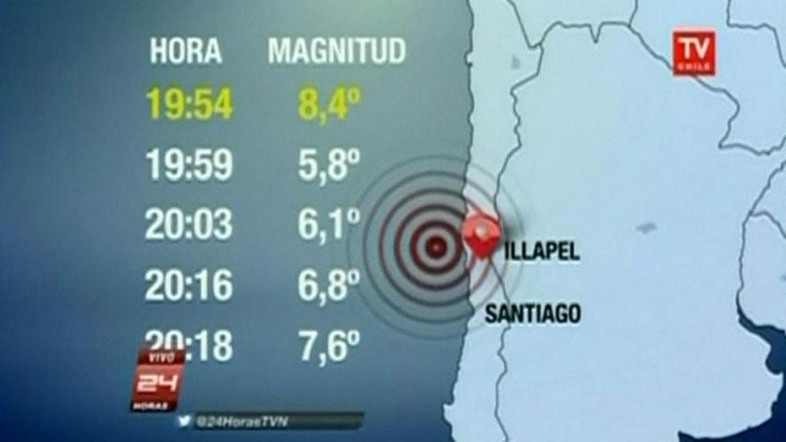 Video Zemětřesení v Chile dosáhlo 8,3 stupně Richterovy škály