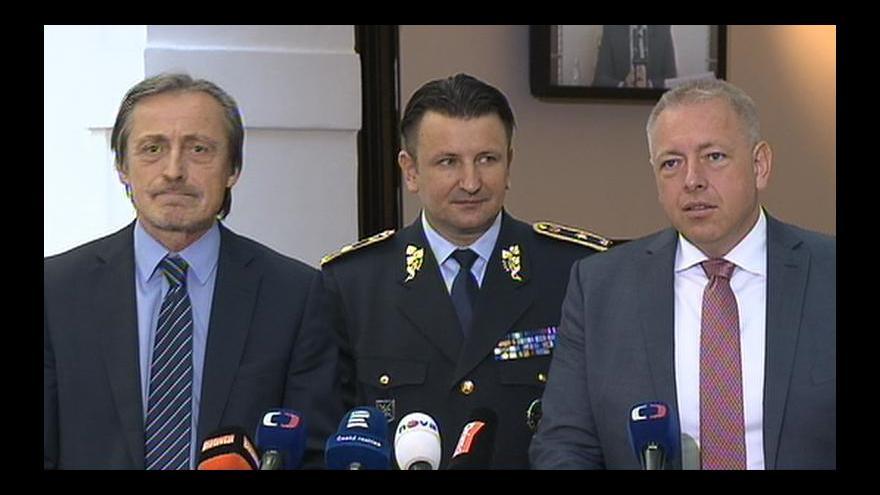 Video Brífink ministrů obrany, vnitra a policejního prezidenta k nácviku ochrany hranic