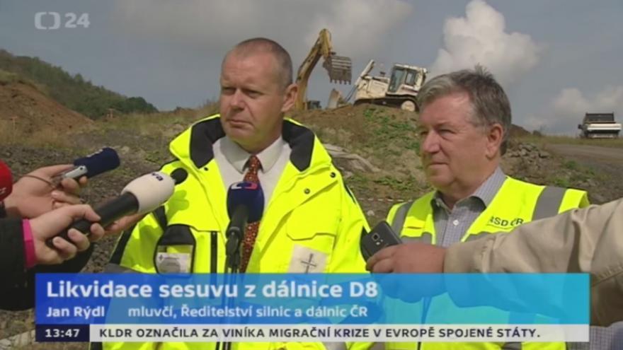 Video Likvidace sesuvu z dálnice D8