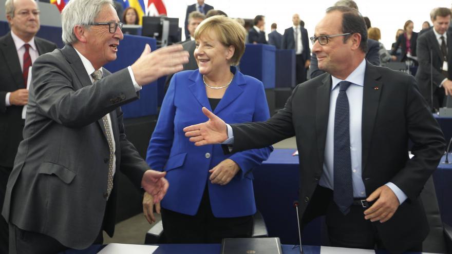 Video Angela Merkelová v Evropském parlamentu