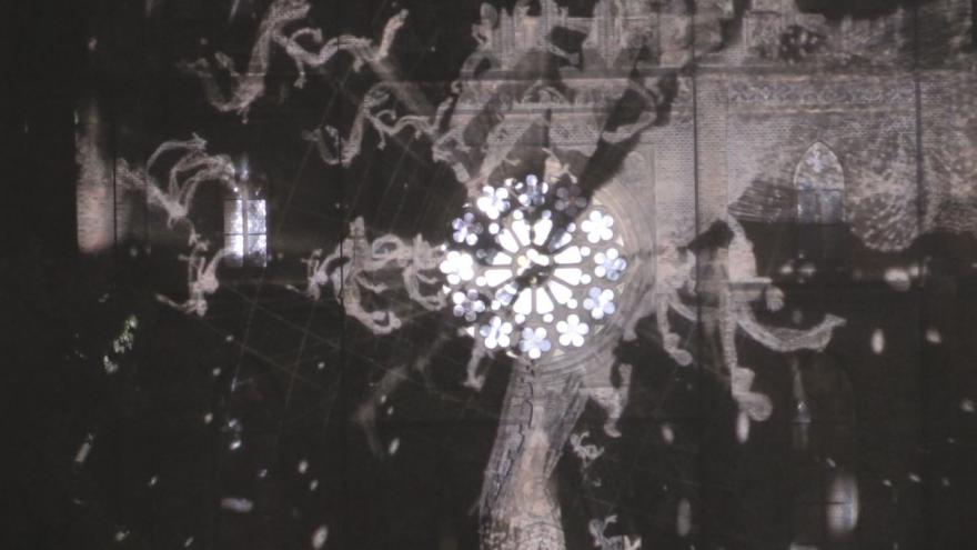 Video BORDOS. ARTWORKS – VIDEOMAPPING na Kostele sv. Ludmily