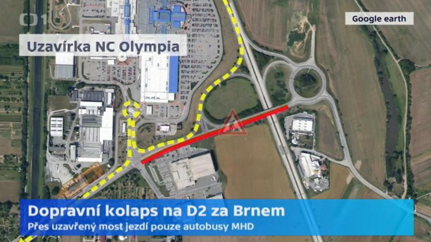Video Studio 6 - Dopravní kolaps na D2 za Brnem