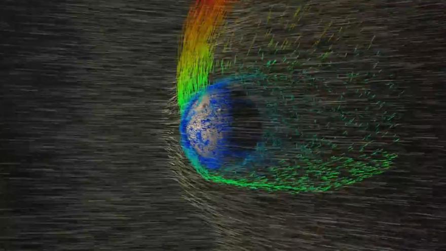 Video ANIMACE NASA: Sluneční vítr vysává plyny z atmosféry Marsu