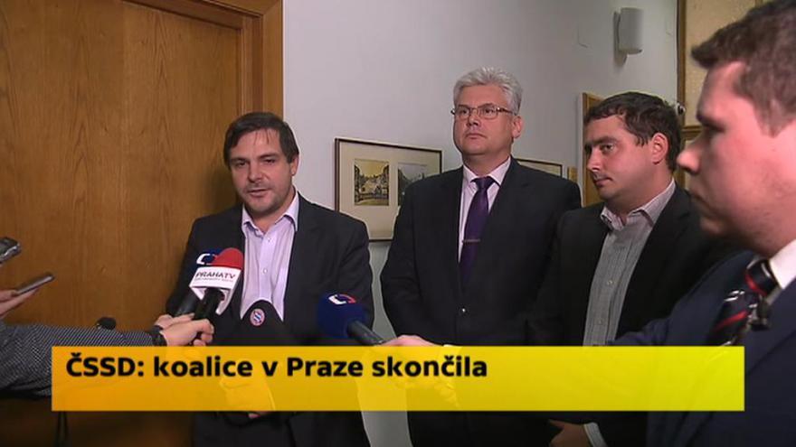 Video ČSSD: Koalice v Praze skončila