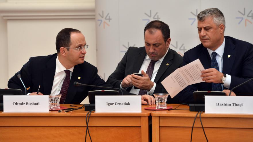 Video Tisková konference po setkání V4 a zemí Balkánu