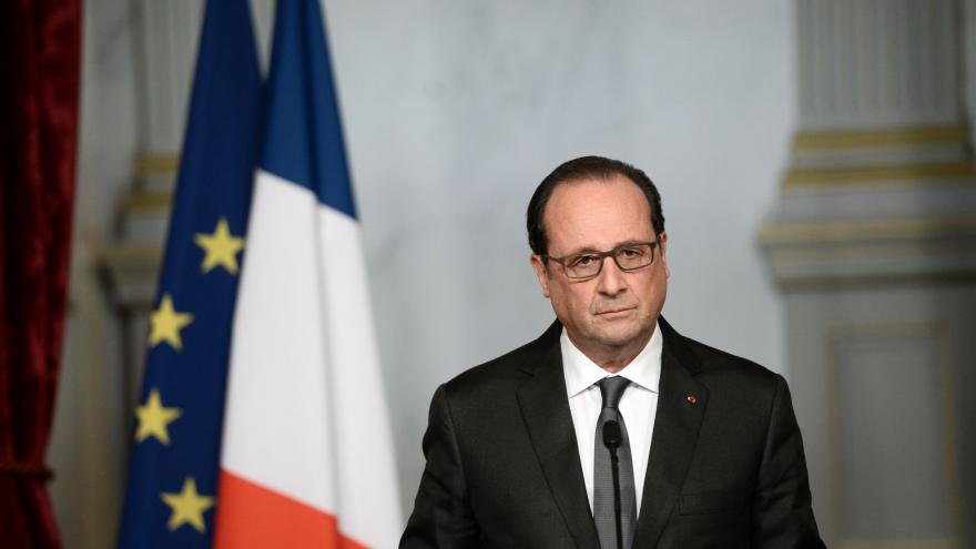 Video Prezident Hollande k teroristickým útokům