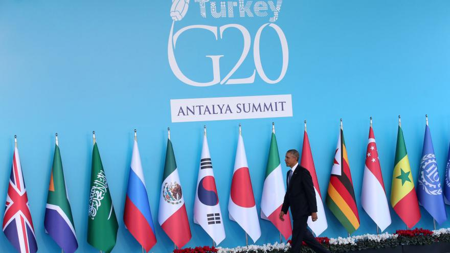 Video Americký prezident Obama na summitu G20