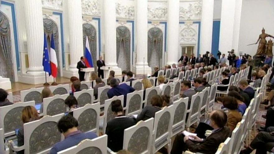 Video Kreml zpřísnil pravidla pro setkání novinářů s prezidentem
