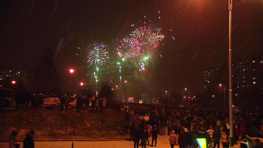 Video Část ohňostroje nad Ostravou