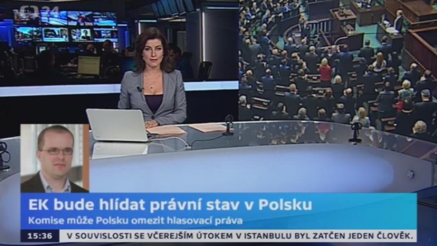 Video Polský zpravodaj Pazderka: EK bude hlídat právní stav v Polsku