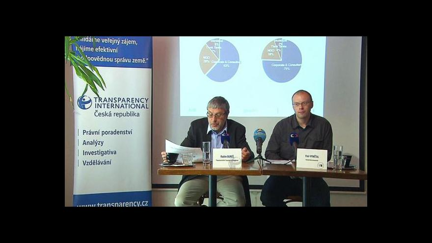 Video Brífink Transparency International k regulaci lobbingu
