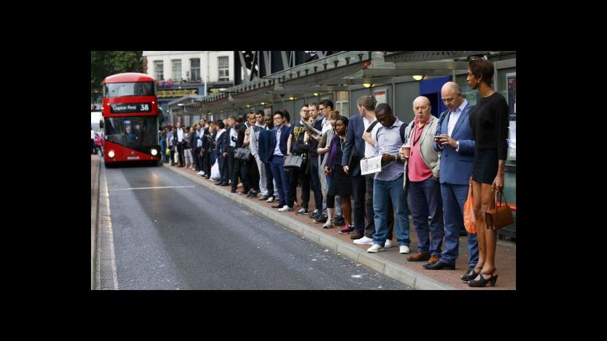 Video Milan Kocourek ke stávce v londýnském metru
