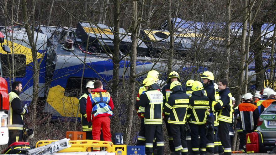 Video Železniční neštěstí v Bavorsku