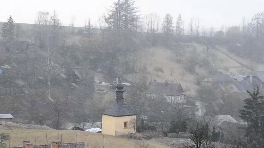 Video iReportér: Sněžení kamerou Jitky Rosslerové