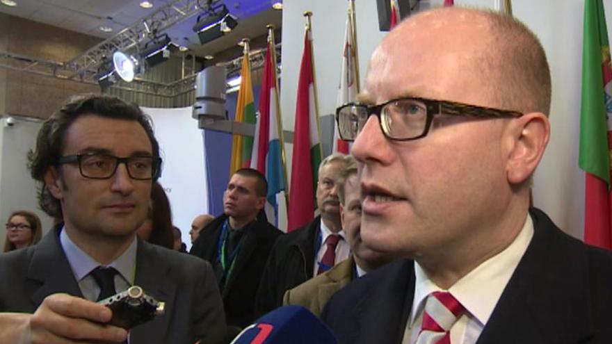 Video Brífink Bohuslava Sobotky před zahájením summitu EU