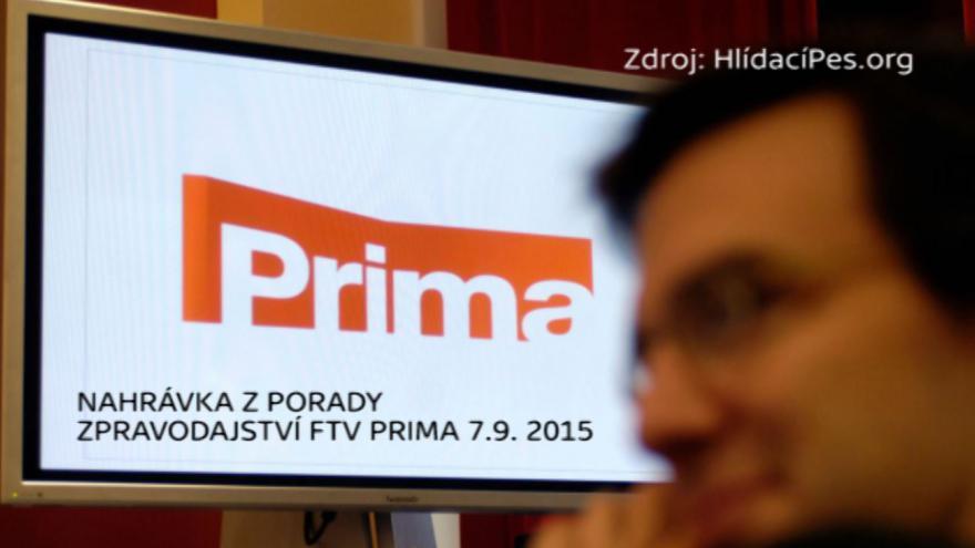 Video Nahrávka z porady zpravodajství FTV Prima 7.9. 2015
