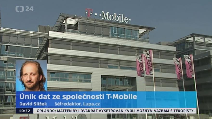 Video David Sližek k úniku dat ze společnosti T-Mobile