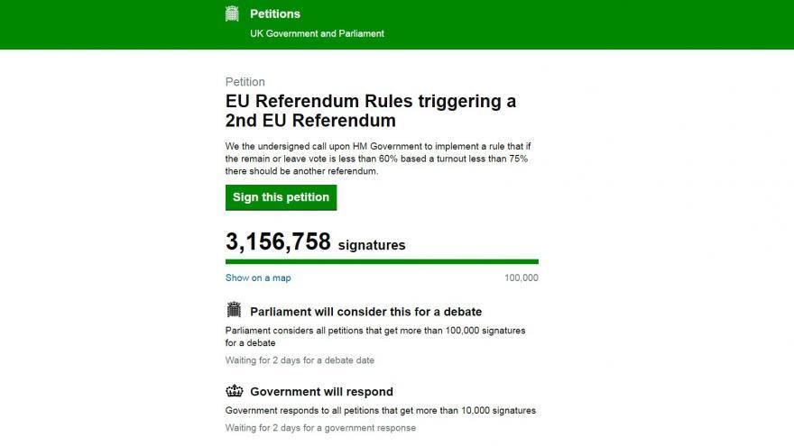 Video Sociální sítě po referendu ovládla petice za nové referendum