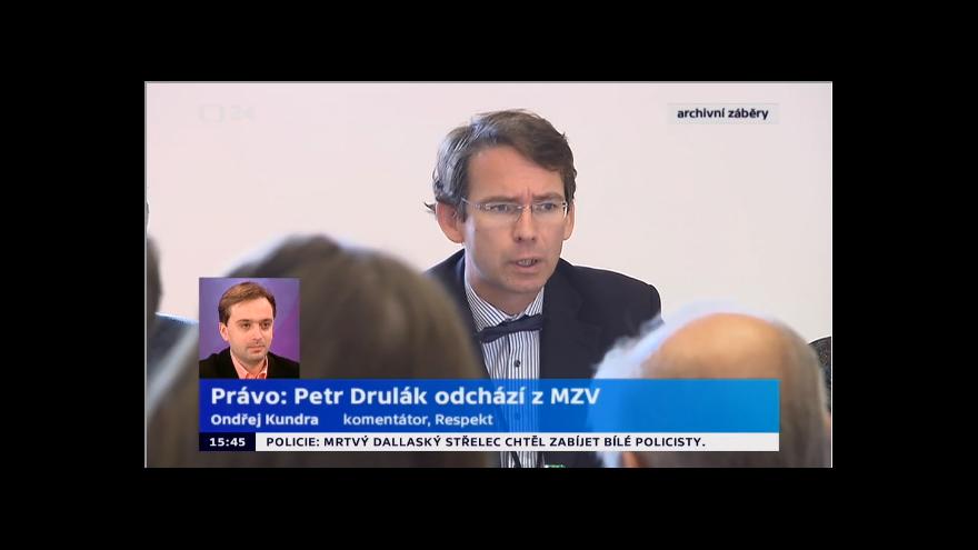 Video Petr Drulák končí na ministerstvu zahraničí