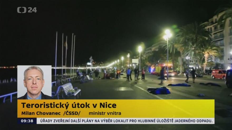 Video Chovanec: Mezi mrtvými v Nice nejsou Češi