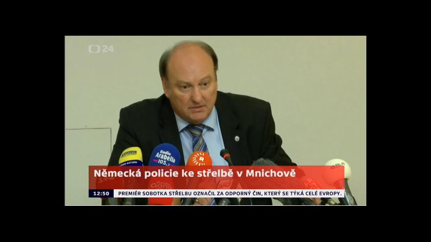 Video Německá policie ke střelbě v Mnichově