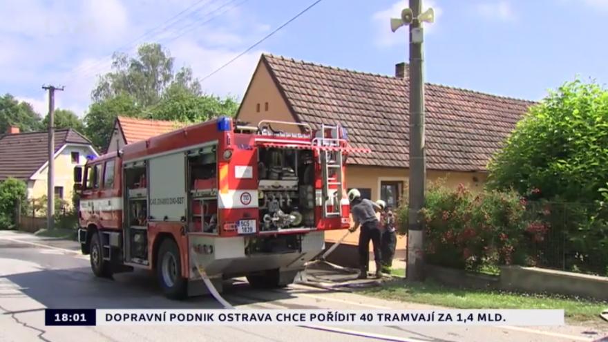 Video Škody v Týně nad Vltavou činí sedm milionů