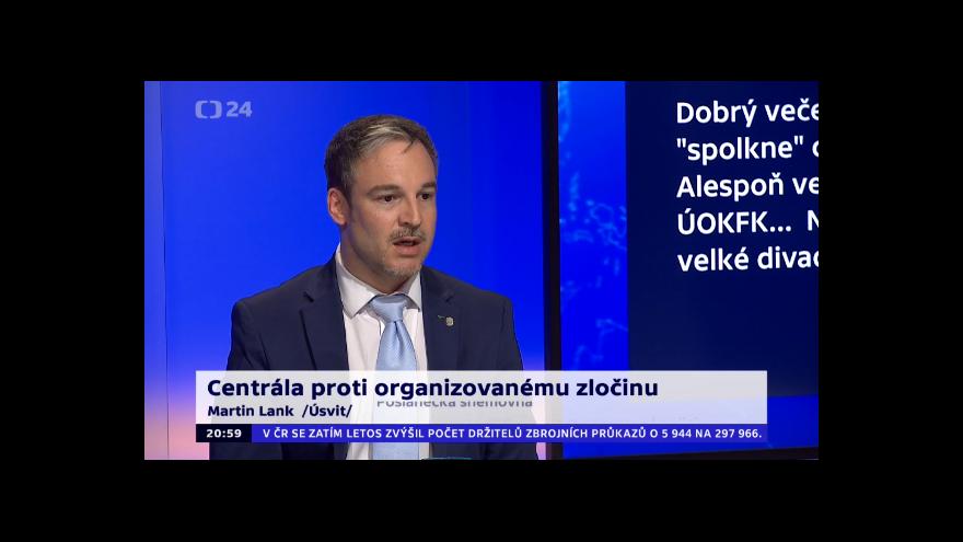 Video 90' ČT24 - Národní centrála proti organizovanému zločinu