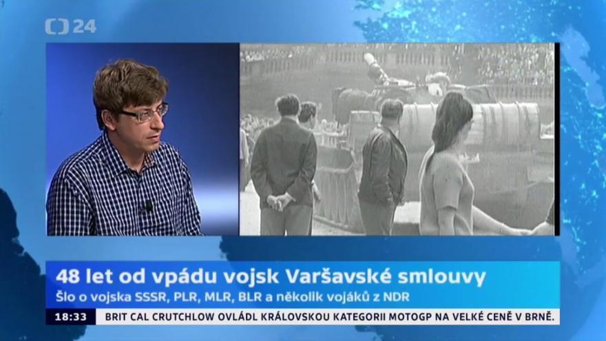 Video 48 let od vpádu vojsk Varšavské smlouvy