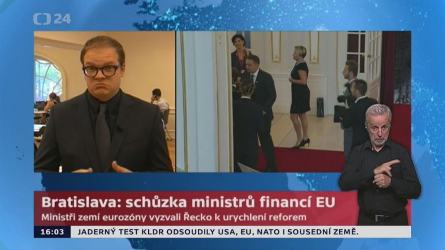 Video Bratislava: schůzka ministrů financí EU