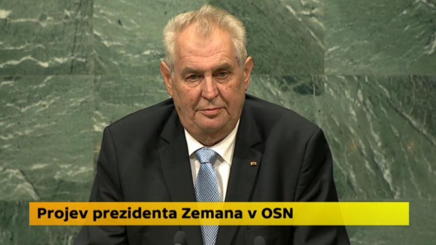 Video Projev prezidenta Zemana na Valném shromáždění OSN