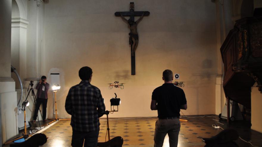 Video Droni v Kostele sv. Mikuláše