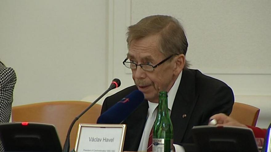 Video Jedno z posledních veřejných vystoupení Václava Havla