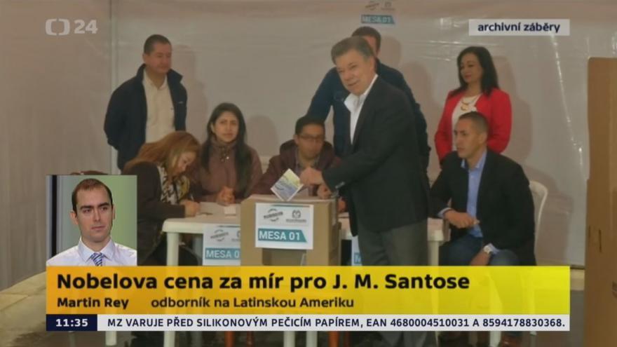 Video Nobelova cena za mír pro J. M. Santose