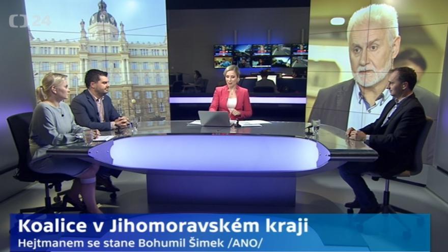 Video Studio ČT24 - Koalice v JMK