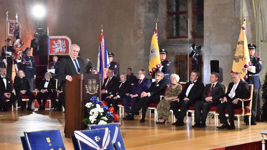 Video Předávání státních vyznamenání prezidentem republiky 2016