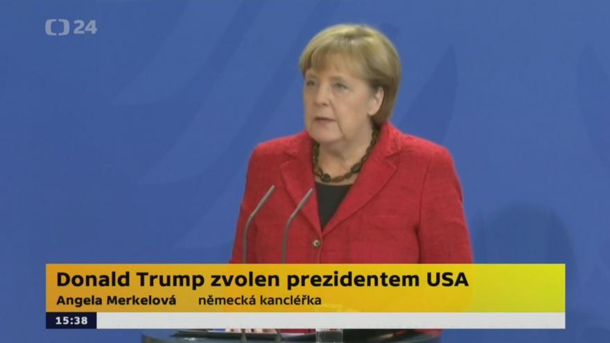 Video Merkelová k prezidentské volbě v USA