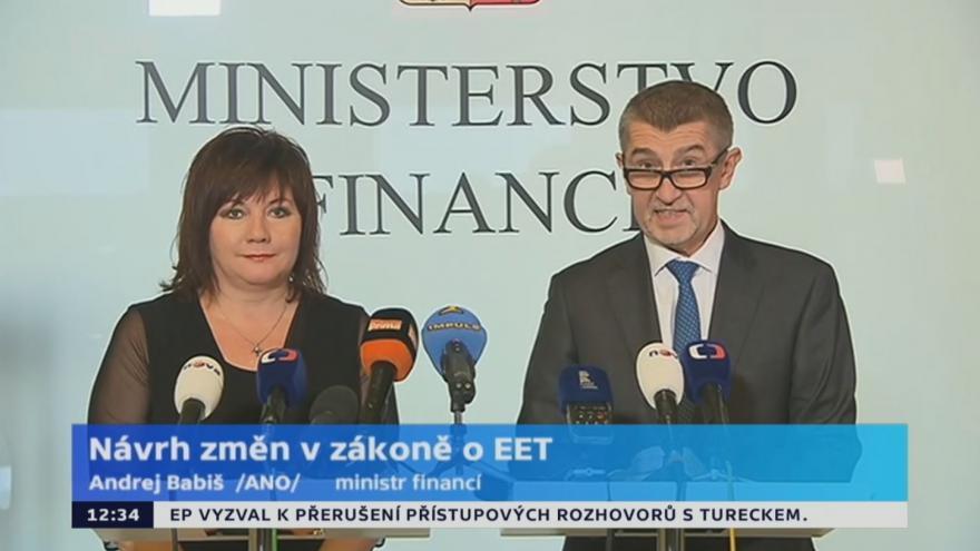 Video Babiš k návrhu změn v zákoně o EET