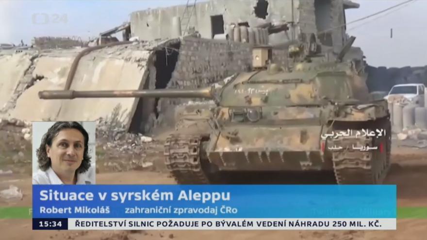 Video Zahraniční zpravodaj Českého rozhlasu k situaci v Aleppu