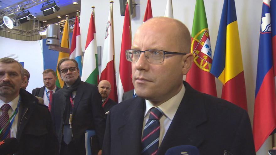 Video Sobotka před summitem: Kvóty nepodporujeme