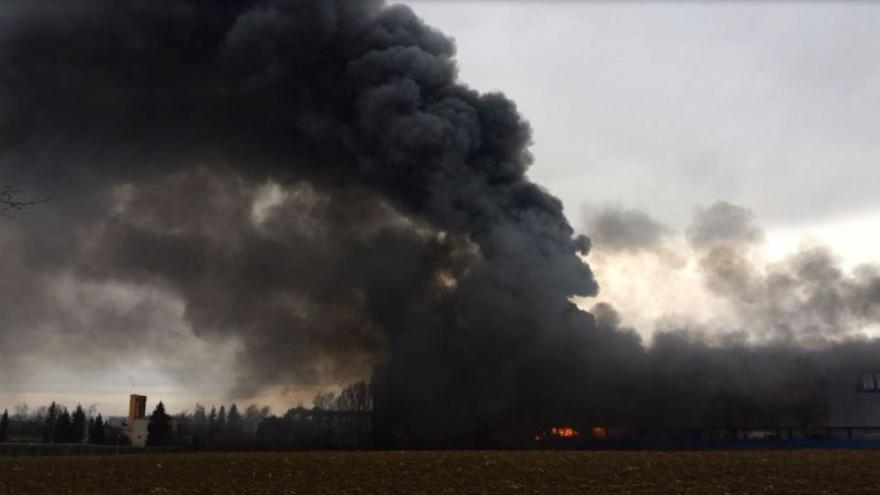 Video iReportér: Požár v Tlumačově
