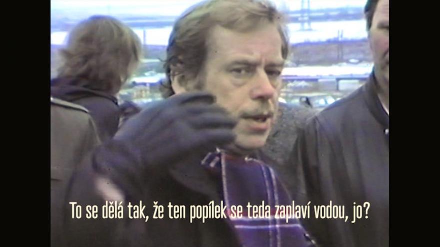 Video Václav Havel na severu Čech v roce 1991 (autor Jan Voráč)