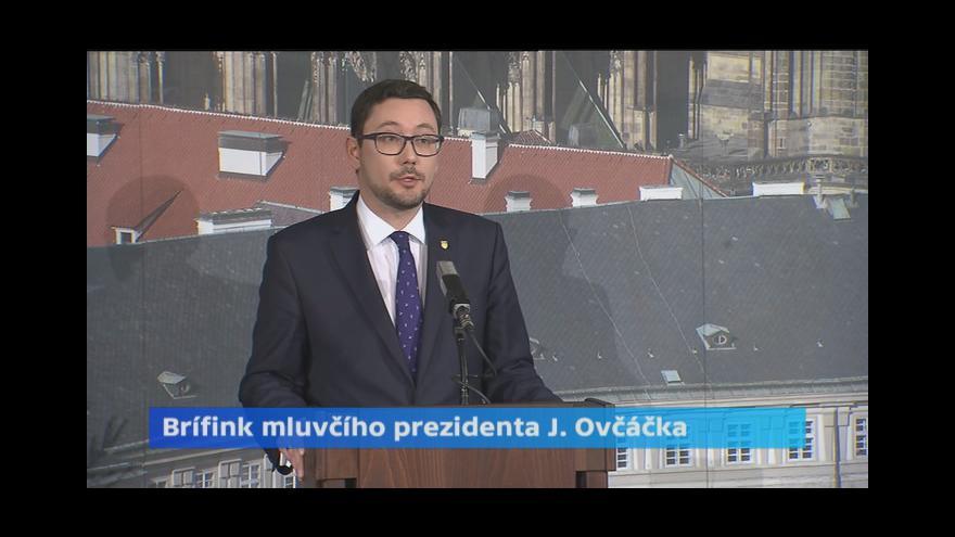 Video Tisková konference Jiřího Ovčáčka